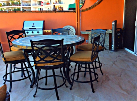 Terrace furniture and BBQ