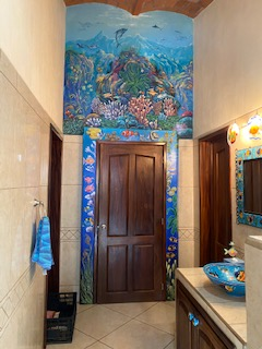 Guest bath 2 with mural